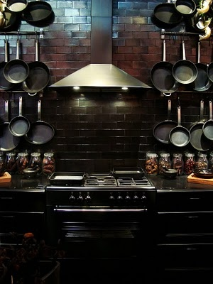 The Steampunk Home - I want to create just one of these pot racks!