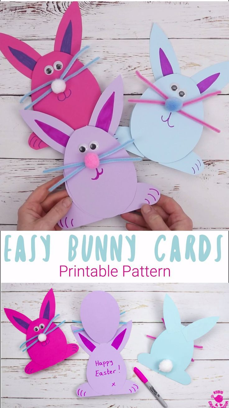 Easy Peasy Bunny Cards Bunny Crafts Easter Crafts For Kids