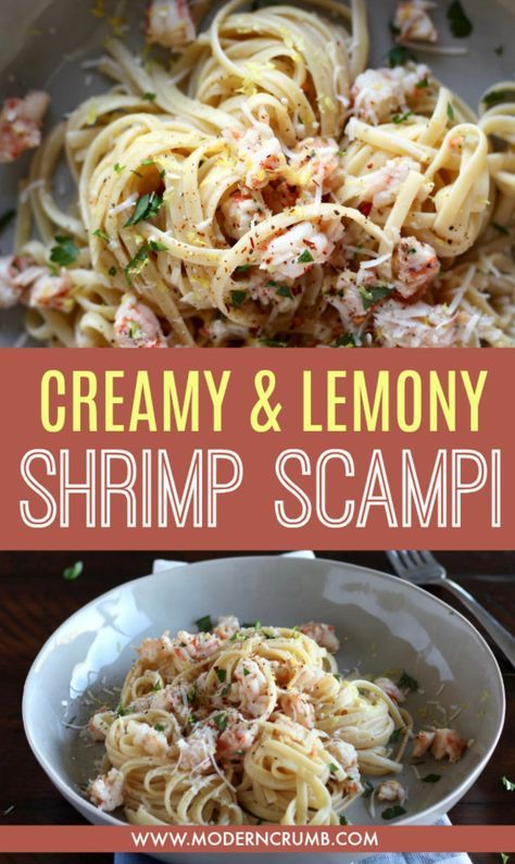 A quick and easy shrimp scampi recipe that is packed with lemon flavor. Using fr…