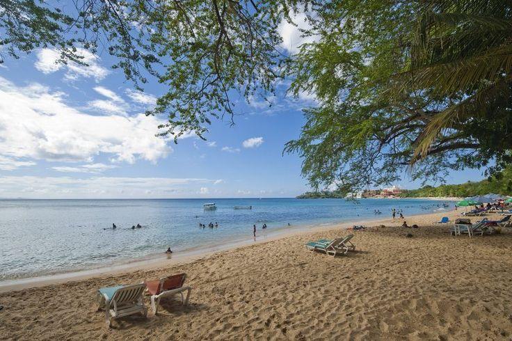 Gold sand and blue at Playa Sosua