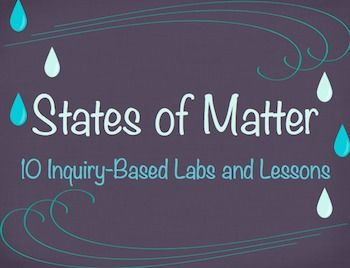 States of Matter Science Unit - Lesson Plans - Labs, Hands-On Experiments - 2nd, 3rd, 4th Grades
