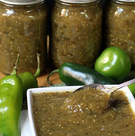 roasted tomatillo salsa verde canning recipe