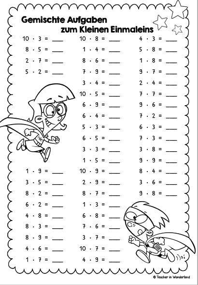 Beste Einstellige Mathe Arbeitsblätter Blätter Bedruckbar Für Klasse ...
