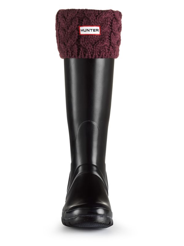 Cable Knit Welly Socks | Rain Boot Socks | Hunter Boot Ltd
