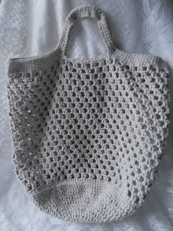 Eco-friendlly Crochet Shopping Bag Large size by StrangelyMagical