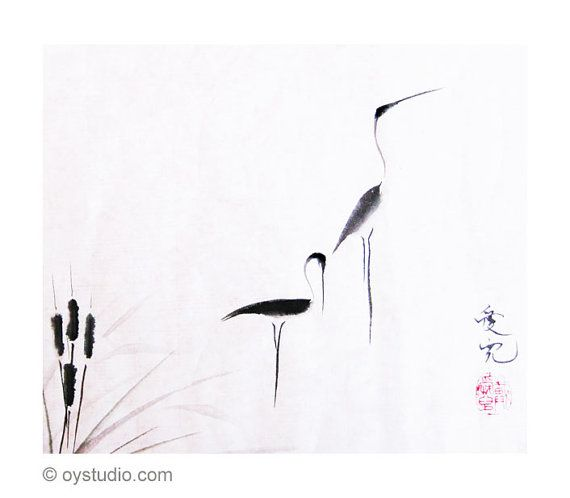 Title: On Typha Pond Artist: OY Tai Artist website: oystudio.com  Print of the original Chinese ink painting by award winning artist OY Tai. It is printed on 8x10 acid free 98lb 160gsm paper with archival inks. Copyright watermark will not appear on actual artwork. Frame and matting not included. See photos for display suggestions. Options: 1. Standard print with no writing. No extra charge  2. Custom remarqued print with add on custom calligraphy. Add $20 A remarque by the artist adds value…