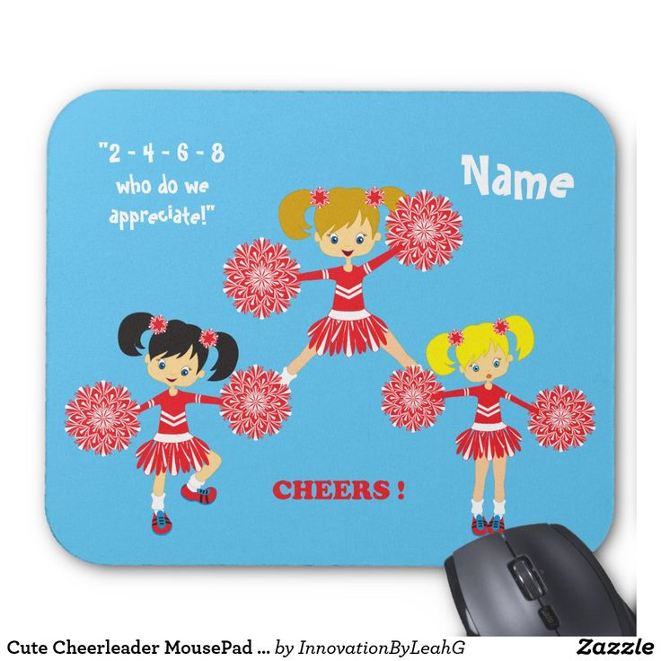 Cute Cheerleader MousePad Personalized
