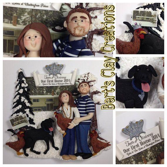 Custom Couples Ornament DEPOSIT Please by BertsClayCreations