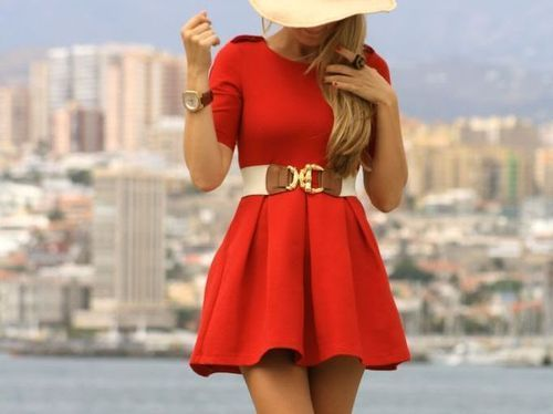 TimelessHats, Summer Dresses, Fashion, Summer Outfit, Little Red, Style, Red Dresses, The Dresses, Belts