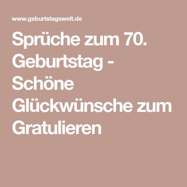 Sprüche zum 70. Geburtstag - Glückwünsche & Gedichte zum