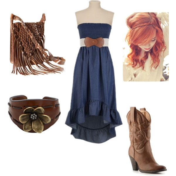 another country girl look but more simple :)    created by chasity-paige-chatt on Polyvore