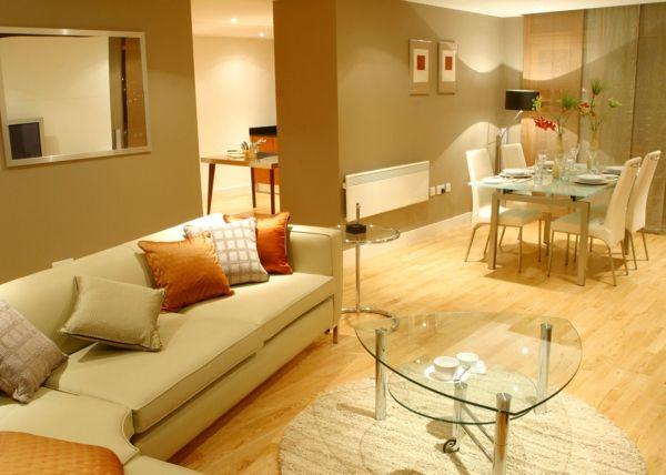 Stunning wohnzimmer sch n gestalten okra wandfarbe Wohnzimmer streichen u inspirierende Ideen