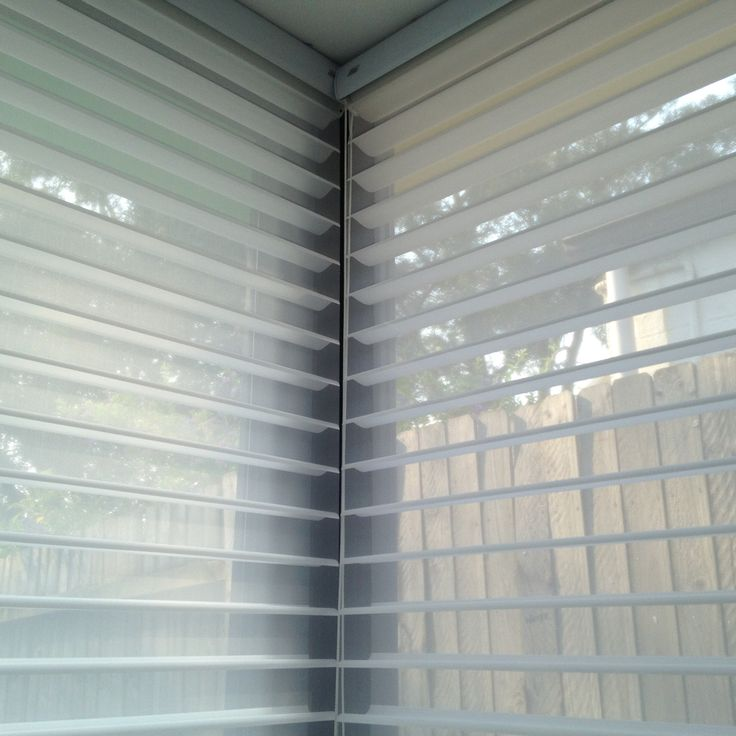 #silhouettes on a corner window #windowfashions #luxaflex #parkshuttersandblinds