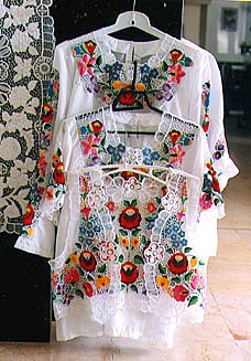 Blouses hand embroidery from Hungary
