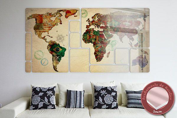 Resultado de imagem para mapa decorativo brasil