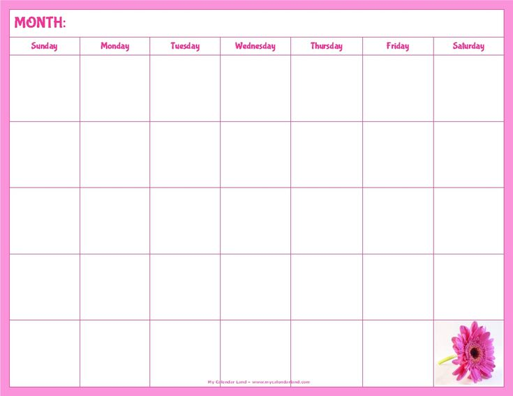 33 best Blank Monthly Calendar images on Pinterest Blank - printable blank calendar
