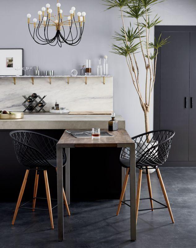Sidera Black Bar Stools Cb2 Modern Dining Room Farmhouse Kitchen Decor Black Counter Stools