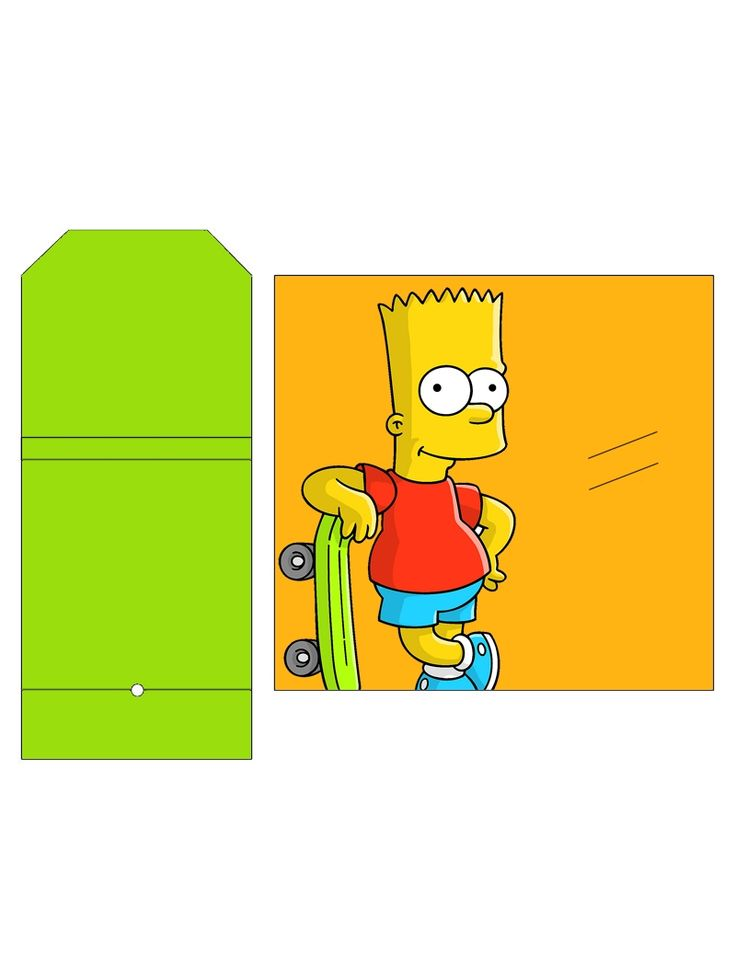 """The Simpsons """"Bart"""" Sucker Package .... free to use and free to share for personal use. <3"""