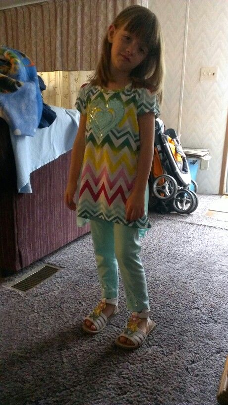 """First day of school looks thrilled right. I hare this outfit thanks """"no taste"""" relitives."""