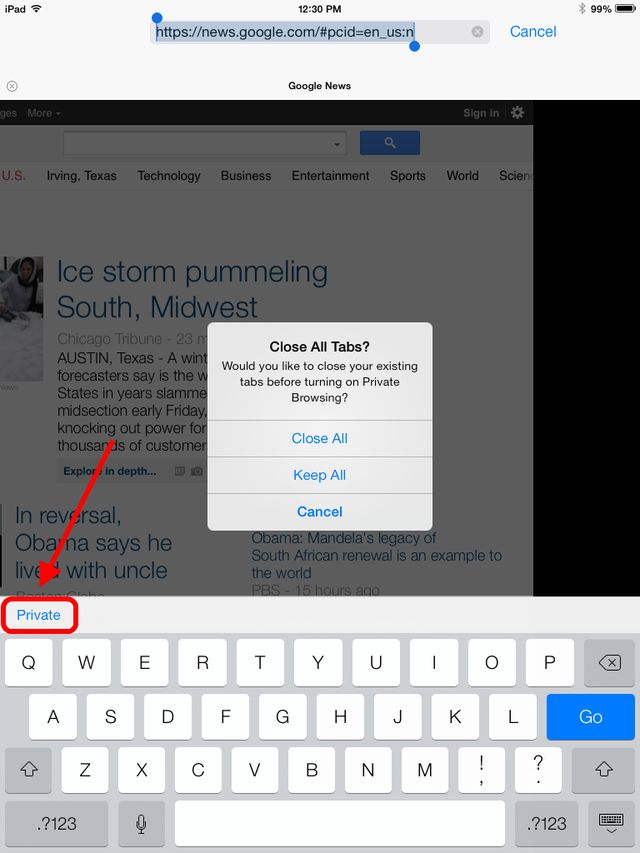 Put Your iPad Browser in Private Mode: How to Turn On Private Browsing on the iPad