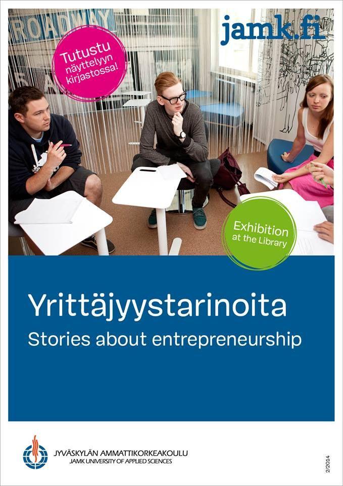 Tarinoita yrittäjyydestä kirjanäyttely Stories about Entreprenurship bookdisplay