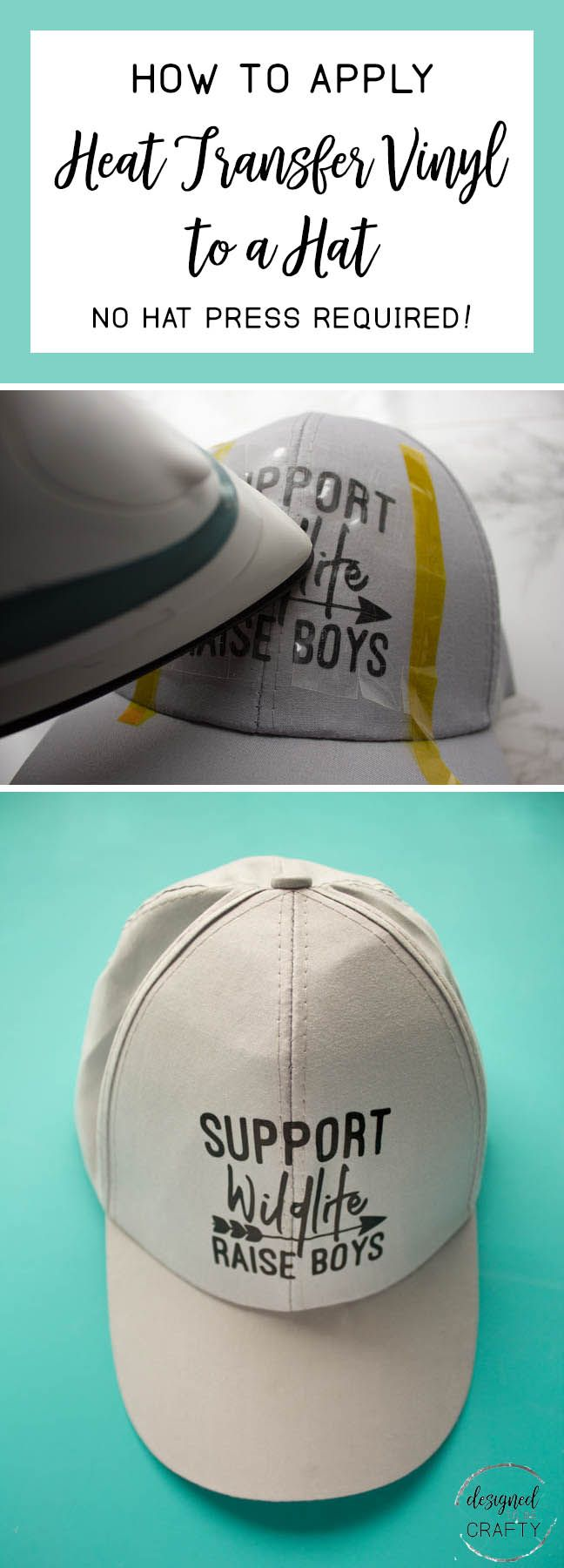 How To Apply Htv To A Hat No Hat Press Required Cricut Vinyl Hat Design Ideas Vinyl Hats