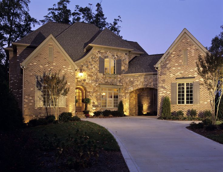 Stone  brick  layers Ext   traditional   exterior   charlotte   Grainda  Builders  Inc 119 best Home Exterior images on Pinterest   Home  Architecture  . Manor House Outdoor Lighting. Home Design Ideas