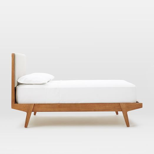 Modern Bed - Linen Weave | west elm