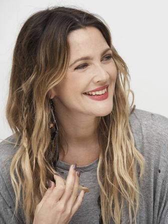 Drew Barrymore's Two-Word Key To Happiness #Refinery29....great article but I love her hair