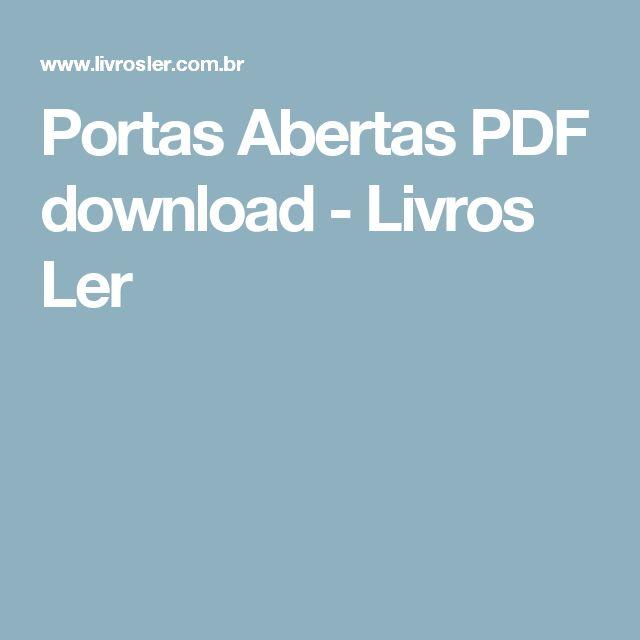 Portas Abertas PDF download - Livros Ler