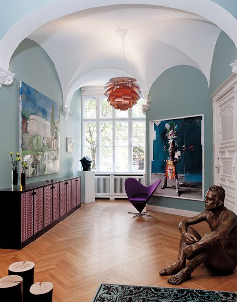 Contemporary interior design in an old Berlin townhouse.