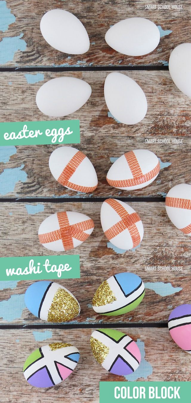 How to Color Block Easter Eggs