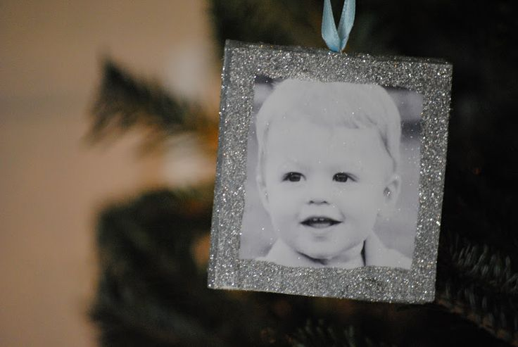 Glitter Photo Frame Ornaments