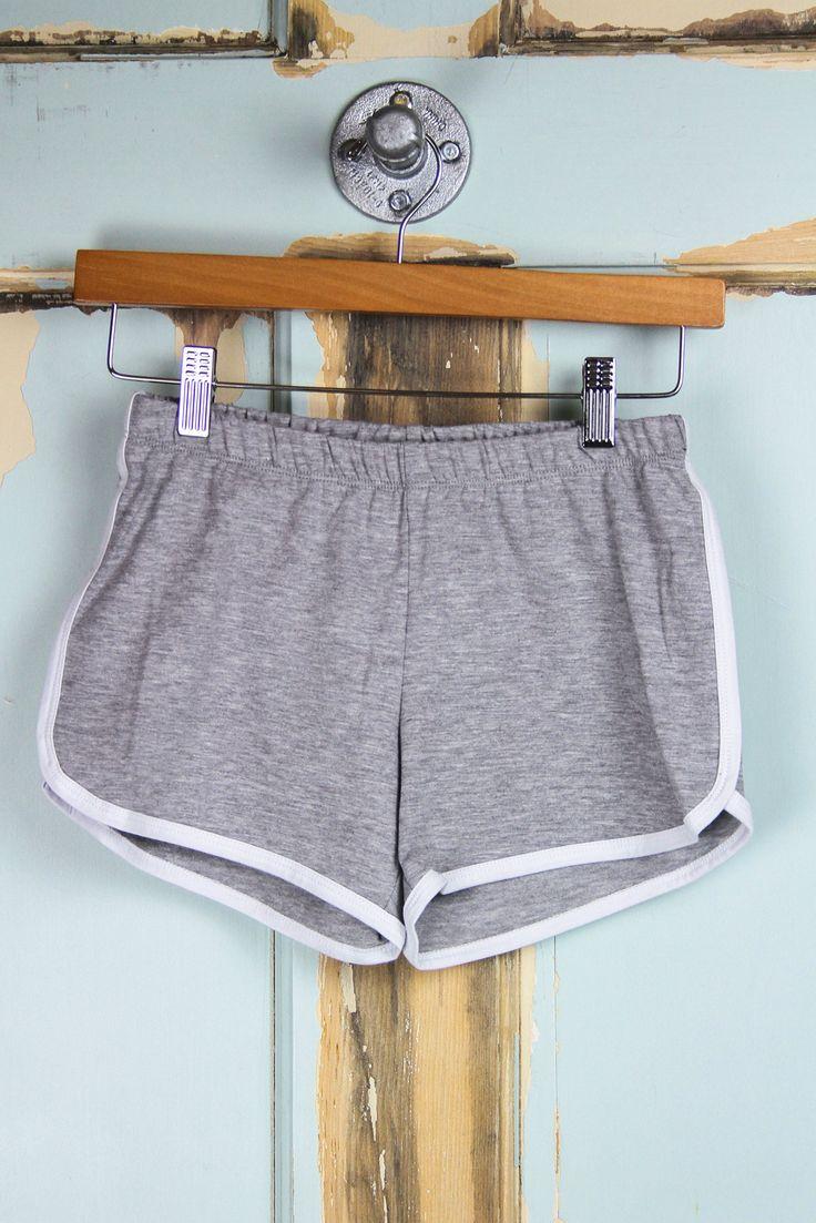 Contrast Binding Gym Shorts