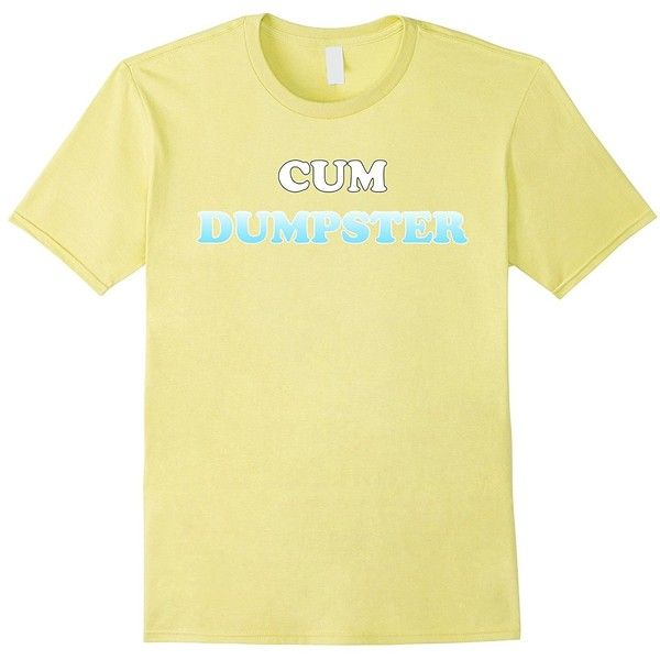 Cum Dumpster T-Shirt ($20) ❤ liked on Polyvore featuring tops, t-shirts, beige t shirt and beige top