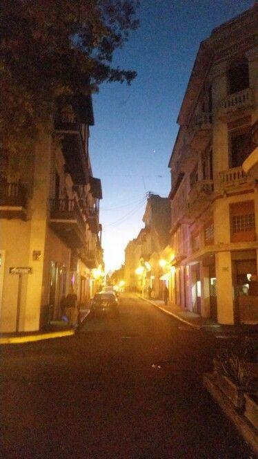 Old San Juan at night.