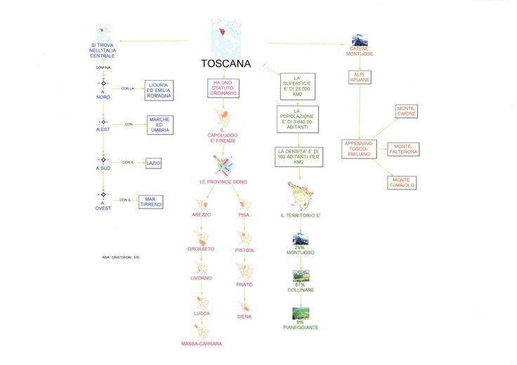 Mappa geografia: Toscana