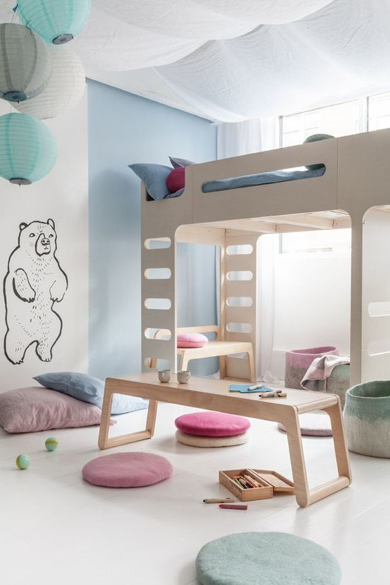 25 best ideas about bett holz on pinterest lagerbetten palettenbett and diy kopfteil holz - Kinderzimmer gestalten ideen ...