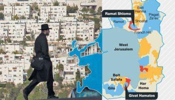 Gemeentebestuur Jeruzalem keurt bouw goed van 560 Joodse huizen voorbij de Groene Lijn