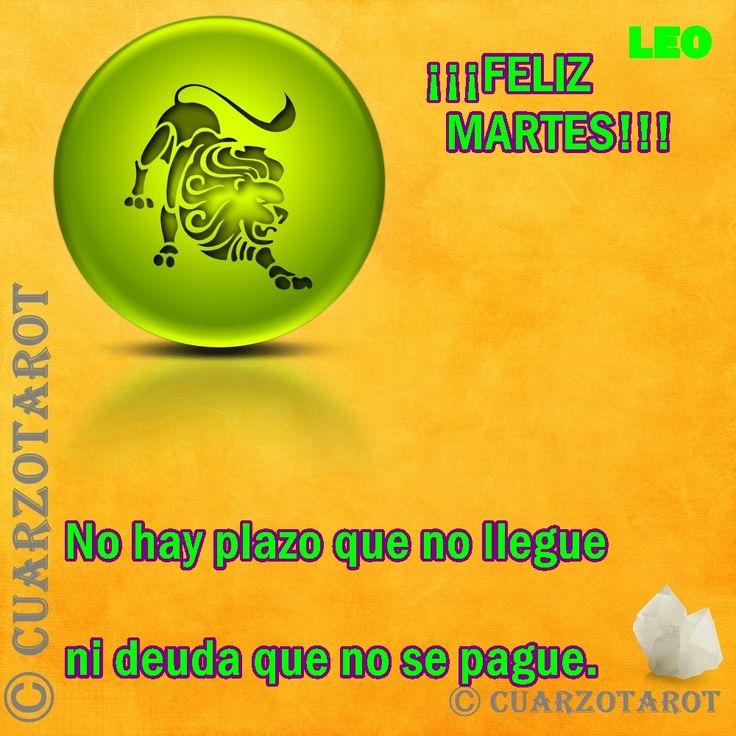 Leo Martes 05 de Julio, 2016 LEO #FelizMartes, encuentros y pactos favorables, salvo el dolor de las extremidades inferiores es un buen día para resolver.