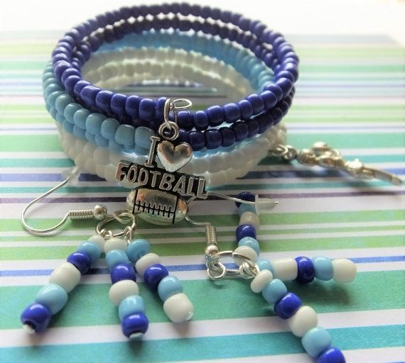 NFL Bracelet Tennessee Titans Football by BlingItOutLoudCharms