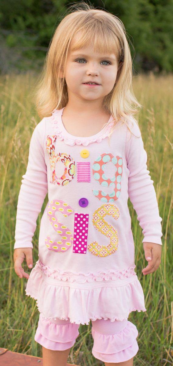 LONG sleeve Big Sis Tunic, Big Sister, Big Sis, Big Sister, Big Sister Dress, Big Sister Shirt, Big Sis Top on Etsy, $35.98