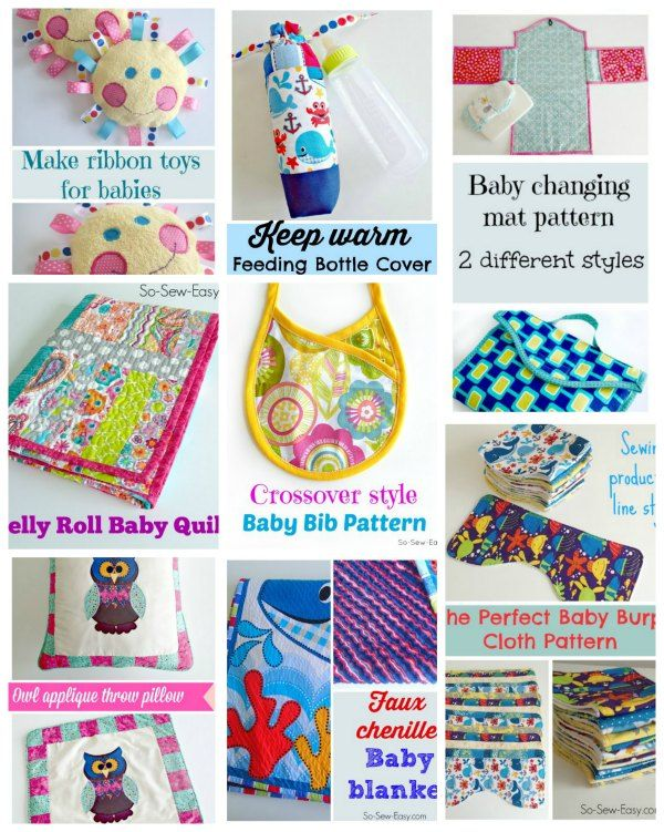 Sewing for babies. Lots of great stuff her for the new arrival, great baby shower gifts to sew.