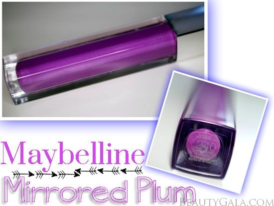 """MAC Heroine Lipglass Dupe: Maybelline Color Sensational Lip Gloss in """"Mirrored Plum"""""""