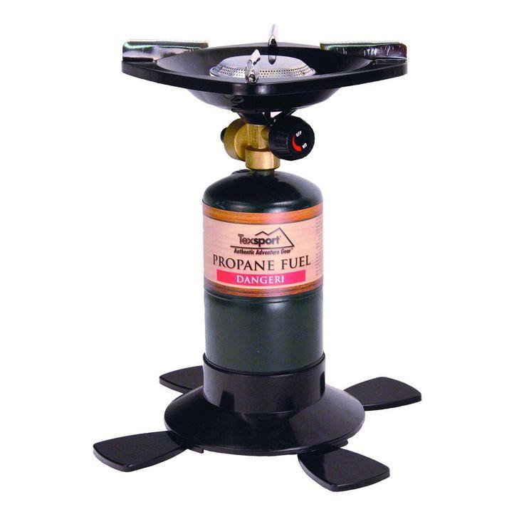 Texsport Single Burner Propane Stove Uses 16.4oz OR 14.1oz