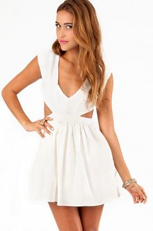 Tobi White Party Dress
