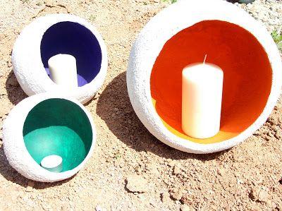 Gartendeko-Blog: Gartendeko aus Beton ~ Zement-Ideen