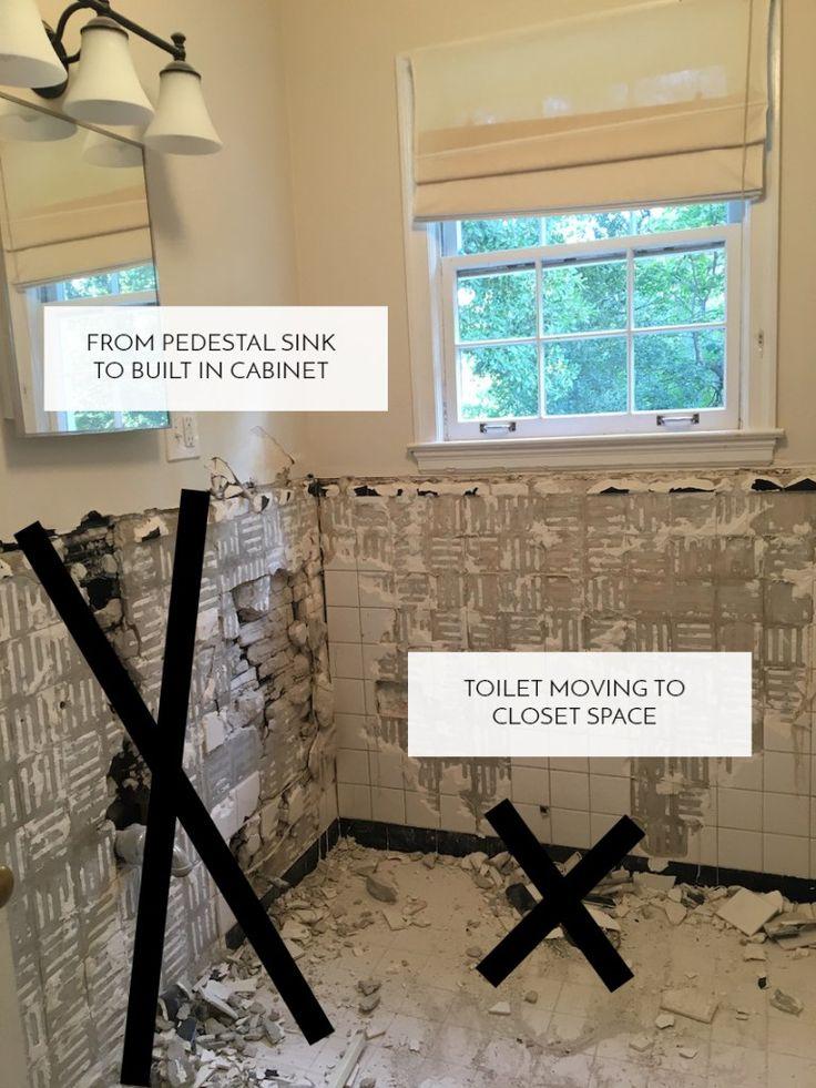 floorplan updates for our retro bathroom
