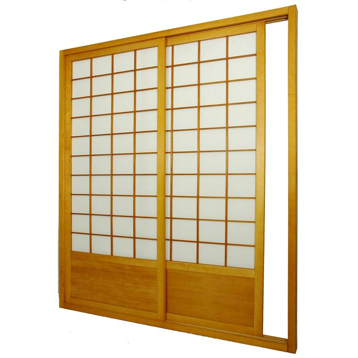 "Oriental Furniture 83"" x 73.5"" Single Sided Sliding Door Shoji Room Divider & Reviews 