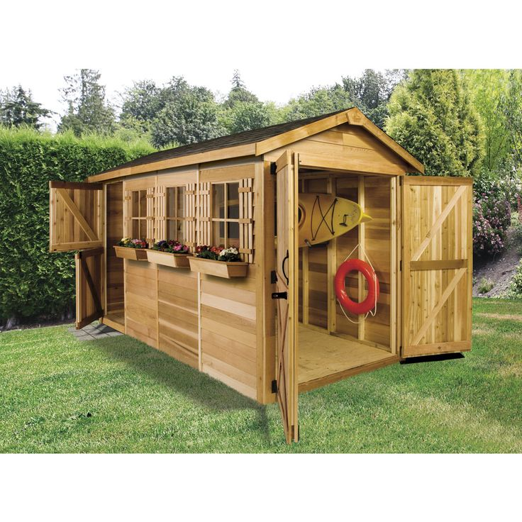 Cedarshed Boathouse Gable Cedar Storage Shed (Common: 12-ft x 6-ft; Interior Dimensions: 11.5-ft ...